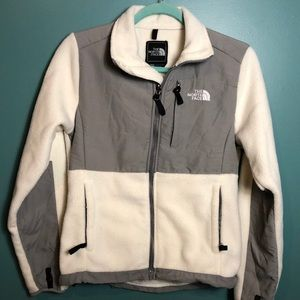 The North Face cream & grey zip up